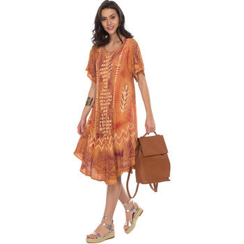 Vêtements Femme Robes courtes Couleurs Du Monde Robe LOLA Femme Collection Printemps Eté Marron