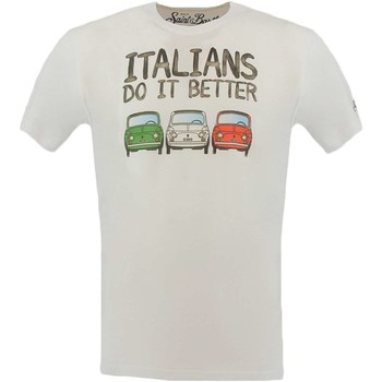 Vêtements Homme T-shirts manches courtes Mc2 Saint Barth ITALIANS BETTER T-shirt Homme blanc blanc
