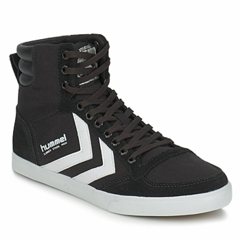 Chaussures Baskets montantes Hummel TEN STAR HIGH CANVAS Noir / Blanc