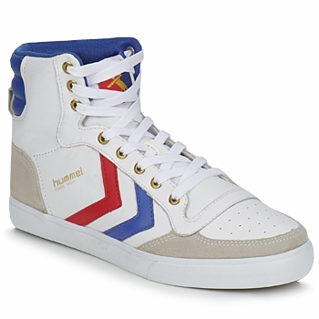 Chaussures Baskets montantes Hummel STADIL HIGH Blanc / Bleu / Rouge