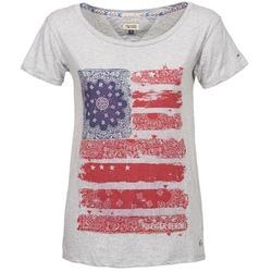 Vêtements Femme T-shirts manches courtes Tommy Jeans CARLIE Gris