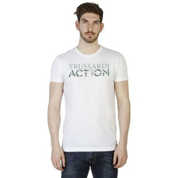 Vêtements T-shirts manches courtes Trussardi - 2AT02 blanc