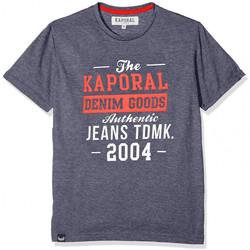 Vêtements Garçon T-shirts manches courtes Kaporal T-Shirt Garçon Rapy Bleu Bleu