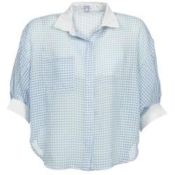 Vêtements Femme Chemises / Chemisiers Brigitte Bardot AMARANTE Bleu / Blanc