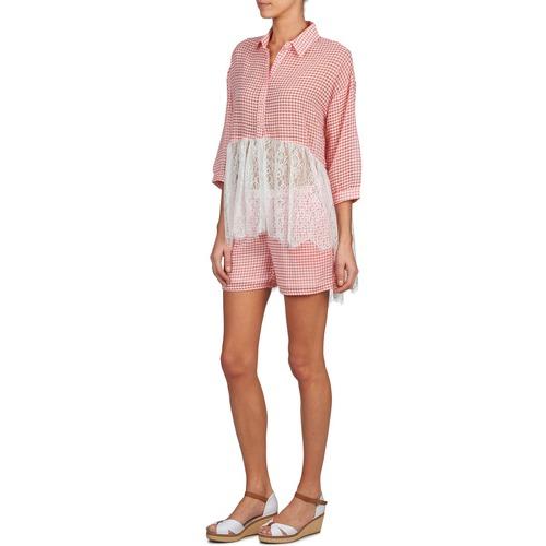 ANNE  Brigitte Bardot  shorts / bermudas  femme  rouge / blanc