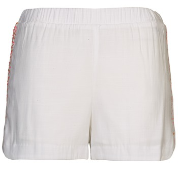 Vêtements Femme Shorts / Bermudas Color Block ALFREDA Blanc / Corail