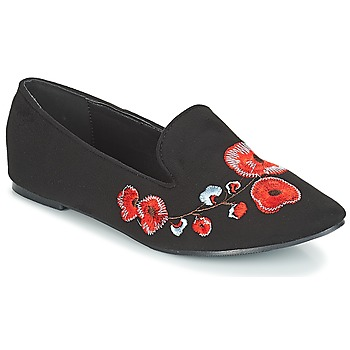 Chaussures Femme Mocassins Moony Mood JASMINY Noir / Fleur