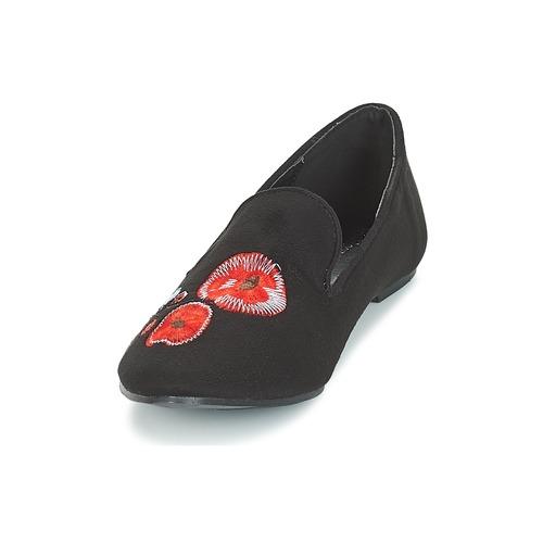Moony Mood Jasminy Noir / Fleur - Livraison Gratuite- Chaussures Mocassins Femme 2319 Rn6Dk
