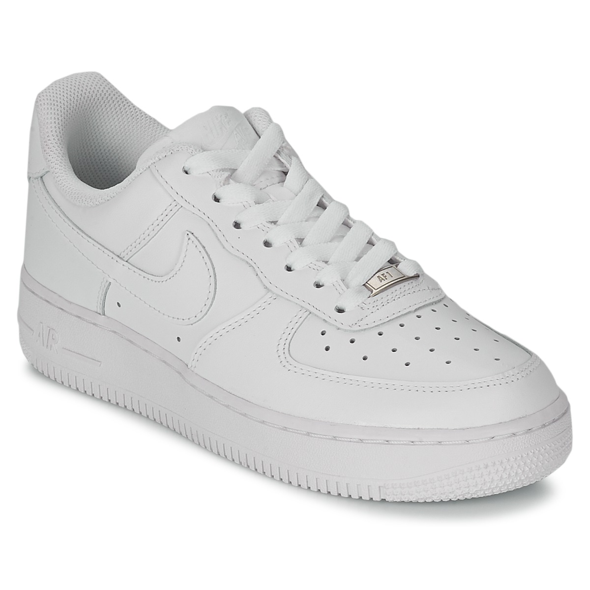 big sale c4f7e bf063 Chaussures Femme Baskets basses Nike AIR FORCE 1 07 LEATHER W Blanc