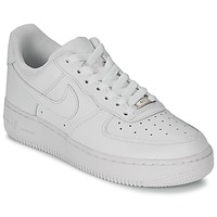 big sale f7fe8 736d7 Chaussures Femme Baskets basses Nike AIR FORCE 1 07 LEATHER W Blanc