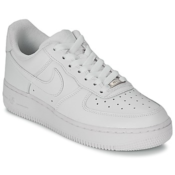 big sale 56992 94909 Chaussures Femme Baskets basses Nike AIR FORCE 1 07 LEATHER W Blanc