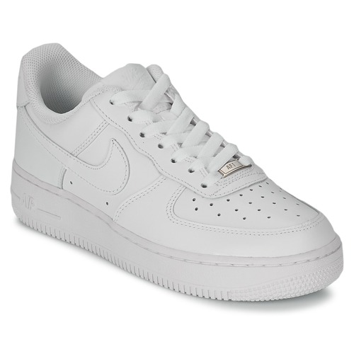 outlet store 27cf6 88dc0 Nike AIR FORCE 1 07 LEATHER W Blanc - Livraison Gratuite | Spartoo ...