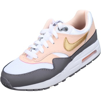 Chaussures Fille Baskets basses Nike Air Max 1 Gs Blanc