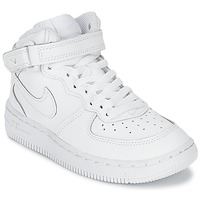 Chaussures Enfant Baskets montantes Nike AIR FORCE 1 MID Blanc