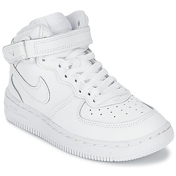 Chaussures Enfant Baskets basses Nike AIR FORCE 1 MID Blanc