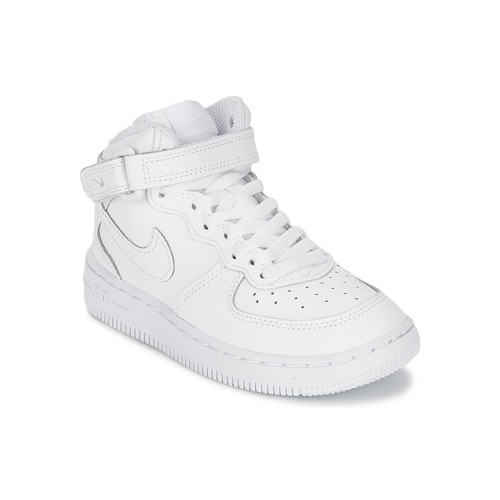 a9657e138e375 Chaussures Enfant Baskets montantes Nike AIR FORCE 1 MID Blanc