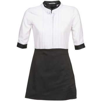 Vêtements Femme Robes courtes La City COLUMBA Noir / Blanc