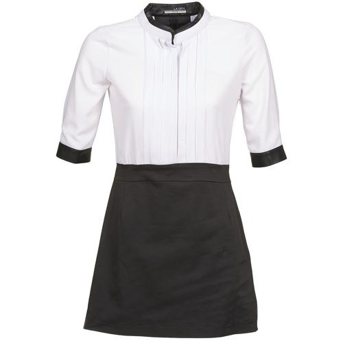 Vêtements Femme Robes courtes La City COLUMBA Noir / Blanc