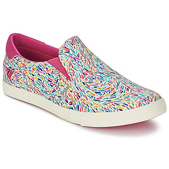 Chaussures Femme Slips on Gola DELTA LIBERTY KT Blanc / Rose / Bleu