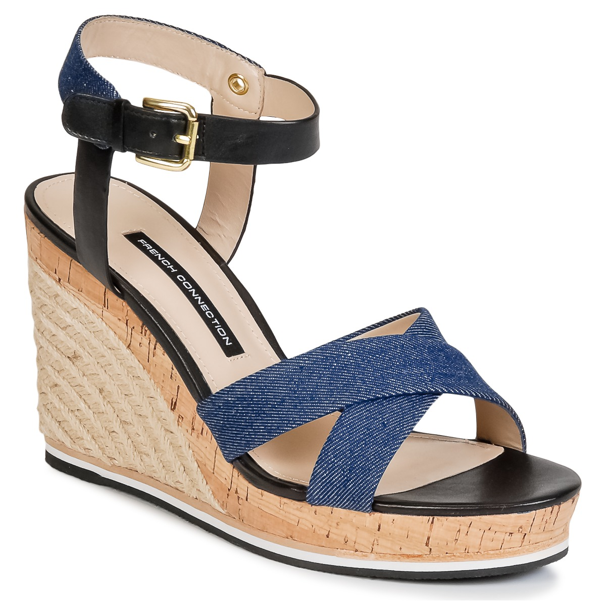 Sandale French Connection LATA Bleu denim