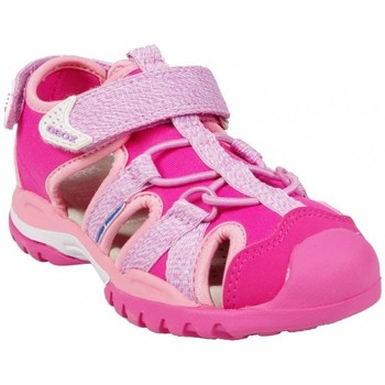 Chaussures Fille Baskets basses Geox Sandales J Borealis G.B Fuschia Rose