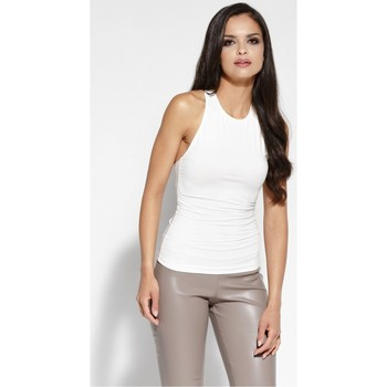 Vêtements Femme Tops / Blouses Dursi Top model 68162 Bézs