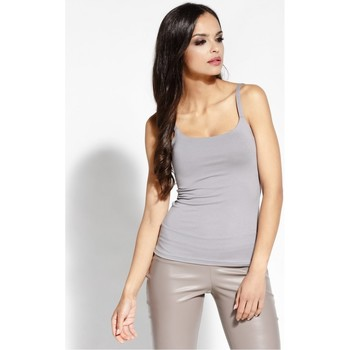 Vêtements Femme Tops / Blouses Dursi Top model 68152 Gris