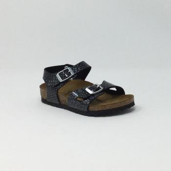 Chaussures Homme Mules Birkenstock Kids BIRK RIO MAGIC SNAKE NOIR/SILVER Argenté