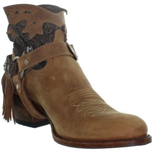 Chaussures Femme Bottes Sendra boots Bottes Deborah en cuir ref sen43699  Marron Marron 7d7b290b6fe3