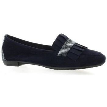 Chaussures Femme Mocassins So Send mocassins cuir velours Marine