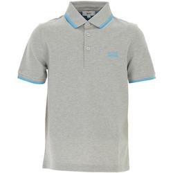 Vêtements Garçon T-shirts & Polos HUGO Polo Hugo Boss Cadet - Ref. J25B99-A89 Gris