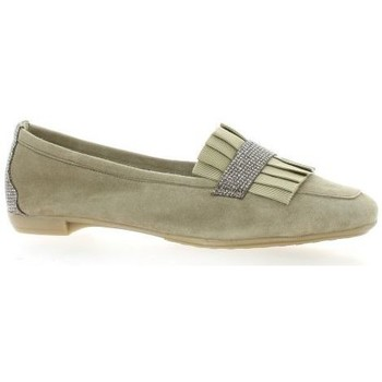 Chaussures Femme Mocassins So Send Mocassins cuir velours Taupe