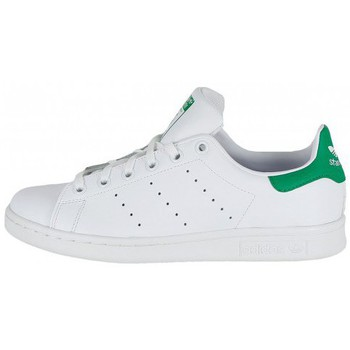 adidas Originals Stan Smith (GS) Blanc / Vert - Chaussures Baskets basses Homme