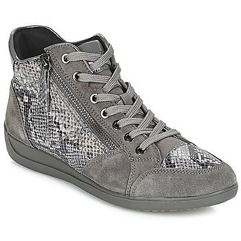 Chaussures Femme Baskets basses Geox D MYRIA Gris foncé