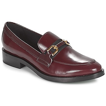 Chaussures Femme Mocassins Geox DONNA BROGUE Bordeaux / Noir
