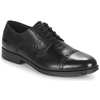 Chaussures Homme Derbies Geox U HILSTONE 2FIT Noir