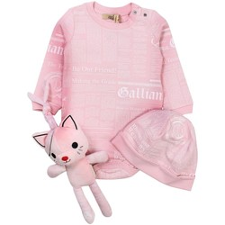 Vêtements Enfant Ensembles enfant John Galliano - Ensemble fille body + bonnet + doudou - Rose Rose
