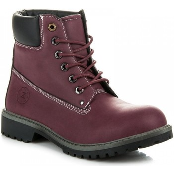 Chaussures Femme Boots Zoki Bottes trappeur model 101474 rouge