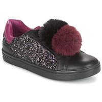 Chaussures Fille Baskets basses Geox J DJROCK GIRL Noir / Violet