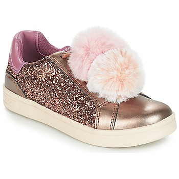 Chaussures Fille Baskets basses Geox J DJROCK GIRL Beige / Rose