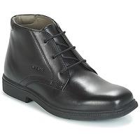 Chaussures Garçon Boots Geox JR FEDERICO Noir