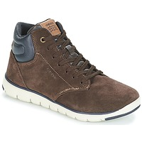 Chaussures Garçon Baskets montantes Geox J XUNDAY BOY Marron / Marine