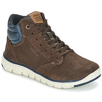 Chaussures Garçon Baskets montantes Geox J XUNDAY BOY Marron / Marine