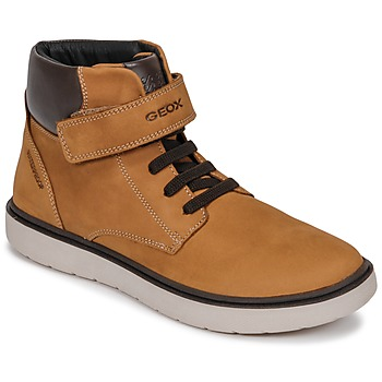 Chaussures Garçon Baskets montantes Geox J RIDDOCK BOY WPF Jaune