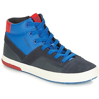 Chaussures Garçon Baskets montantes Geox J ALONISSO BOY Marine / Rouge