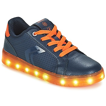 Chaussures Garçon Baskets basses Geox J KOMMODOR BOY Marine / Orange