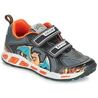 Chaussures Garçon Baskets basses Geox J SHUTTLE BOY Noir / Orange