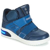 Chaussures Garçon Baskets basses Geox J XLED BOY Marine