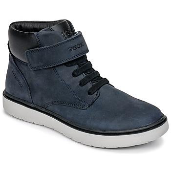 Chaussures Garçon Baskets montantes Geox J RIDDOCK BOY WPF Marine