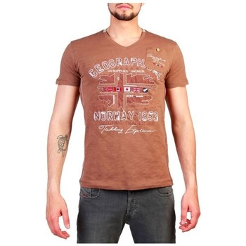 Vêtements T-shirts manches courtes Geographical Norway - Jouri_man marron